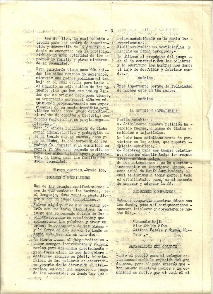 Periodico escolar año 1984