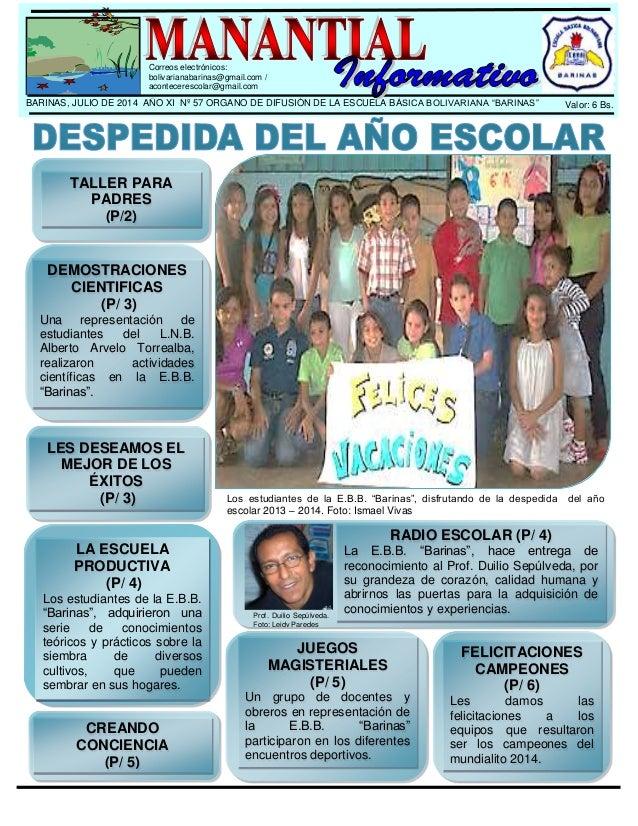 Peri dico escolar de la escuela b sica bolivariana for Como elaborar un periodico mural escolar
