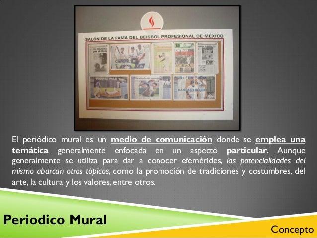 El peri dico mural clases for Caracteristicas de un periodico mural