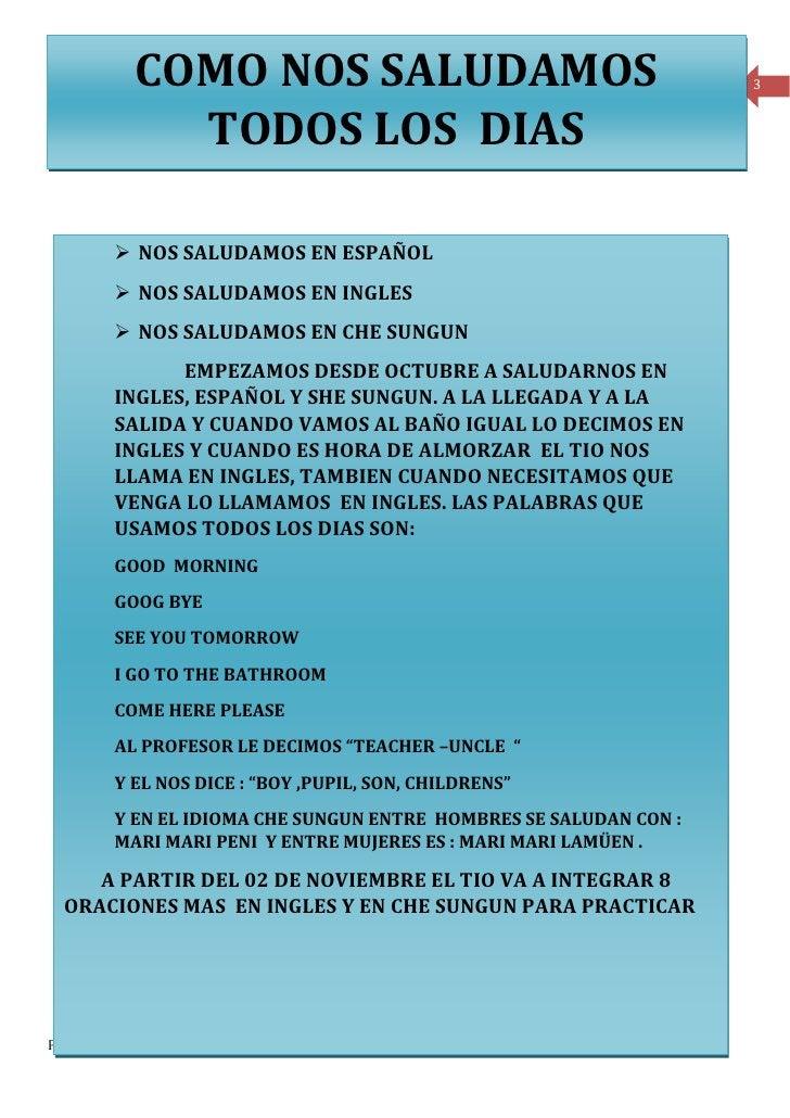 COMO NOS SALUDAMOS                                                                           3               TODOS LOS DIA...