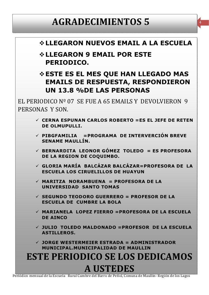 AGRADECIMIENTOS 5                                                                   4                  LLEGARON NUEVOS EMA...