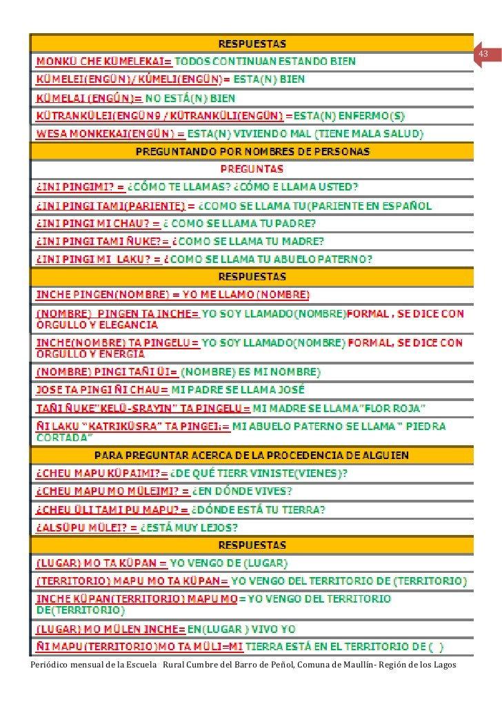 43Periódico mensual de la Escuela Rural Cumbre del Barro de Peñol, Comuna de Maullín- Región de los Lagos