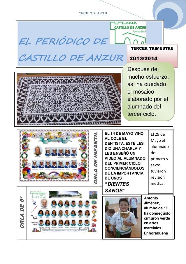 CASTILLO DE ANZUR ÇÇÇÇÇÇ ORLADEINFANTIL ORLADE6º TERCER TRIMESTRE 2013/2014 EL PERIÓDICO DE CASTILLO DE ANZUR TERCER TRIME...