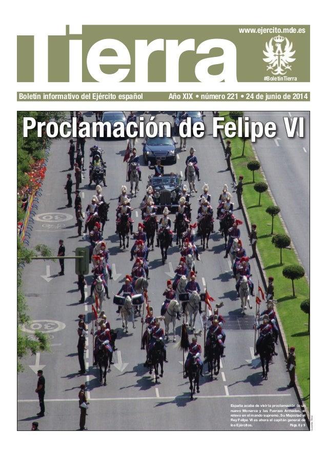 Tierra www.ejercito.mde.es #BoletínTierra Boletín informativo del Ejército español Año XIX • número 221 • 24 de junio de 2...