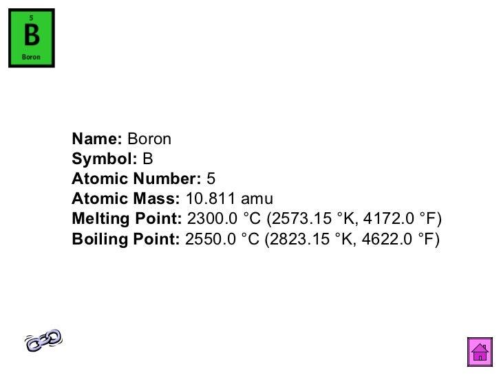Periodic table 7 name boron symbol b atomic number 5 urtaz Images