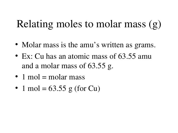 ... 41. Relating Moles To Molar Mass ...