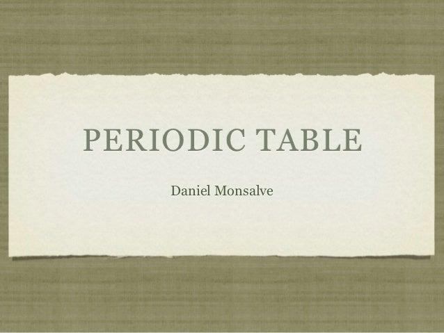PERIODIC TABLE    Daniel Monsalve