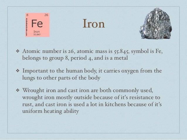 Periodic table iron atomic number urtaz Images