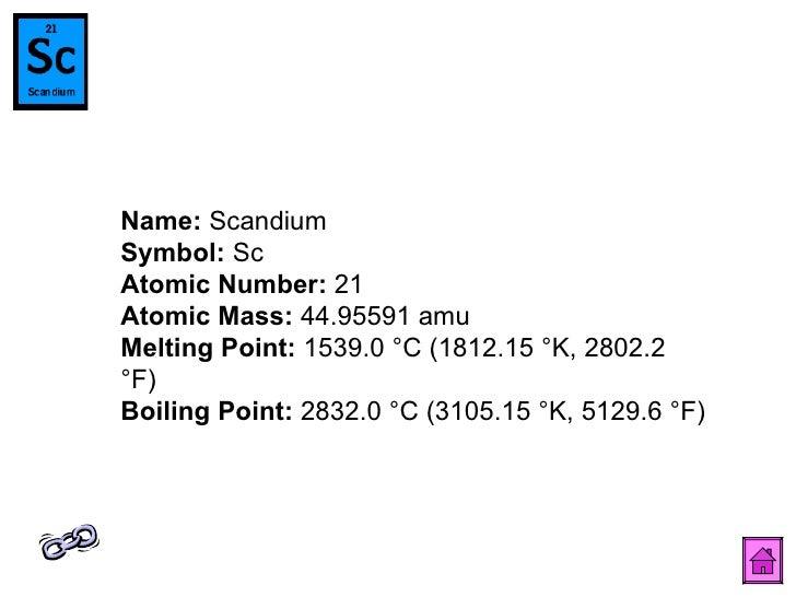 Naresh periodic table 23 name scandium symbol sc atomic number urtaz Images