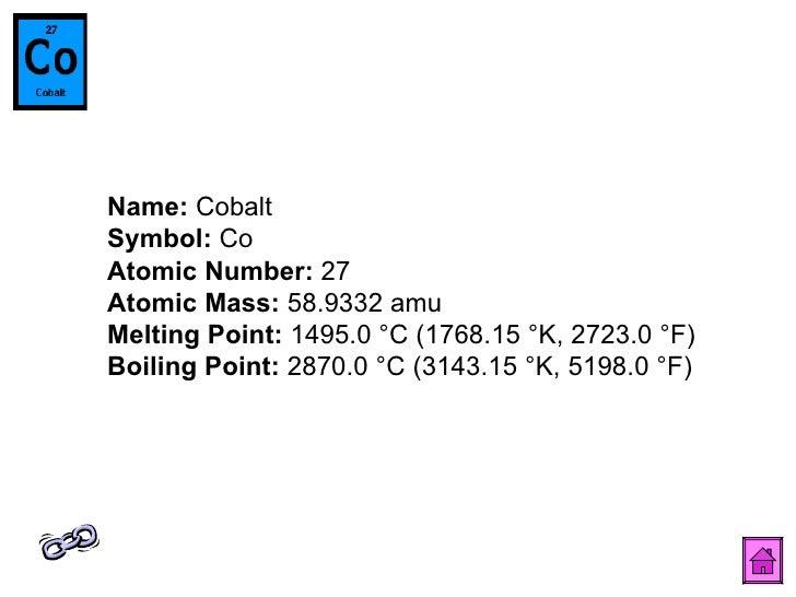 Naresh periodic table name cobalt symbol co atomic number urtaz Image collections