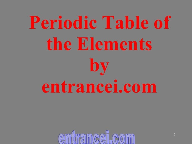 Periodic Table of the Elements by entrancei.com entrancei.com