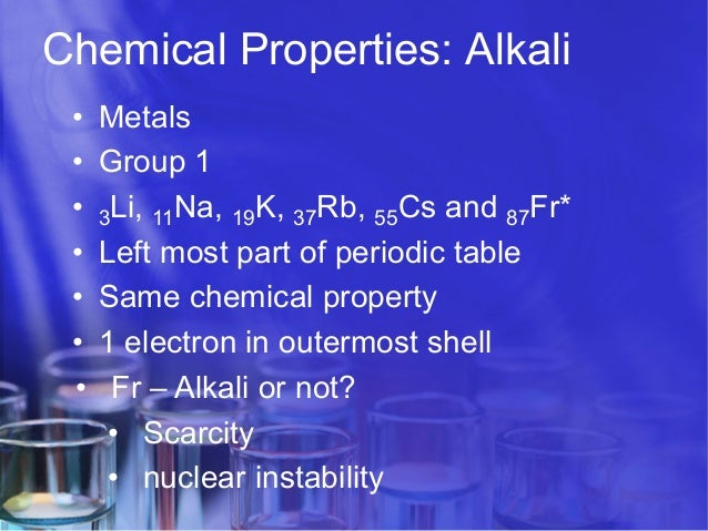 Periodic table and chemical properties scarcity nuclear instability 13 chemical properties alkali metals urtaz Images