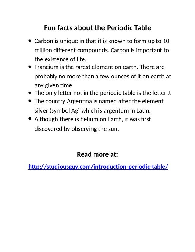 Periodic table facts fig2 periodic table sub levels 6 fun facts urtaz Gallery