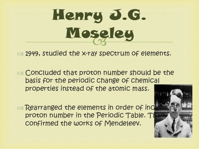 Periodic table ofelements henry jg moseley 8 urtaz Gallery