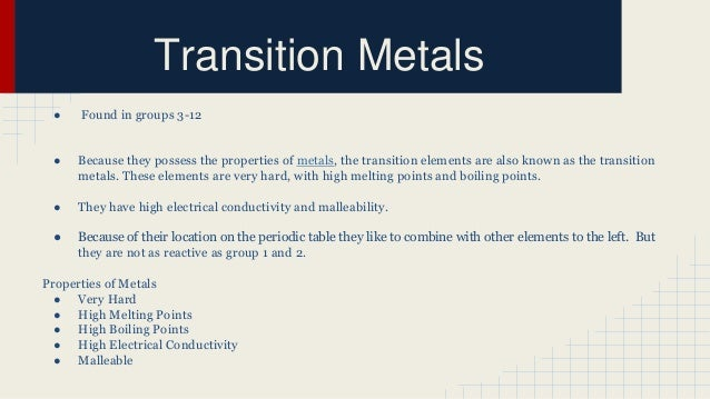 Periodic table of elements transition metals urtaz Choice Image