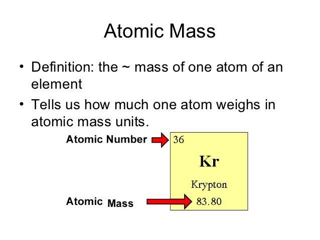 symbol atomic mass - photo #27