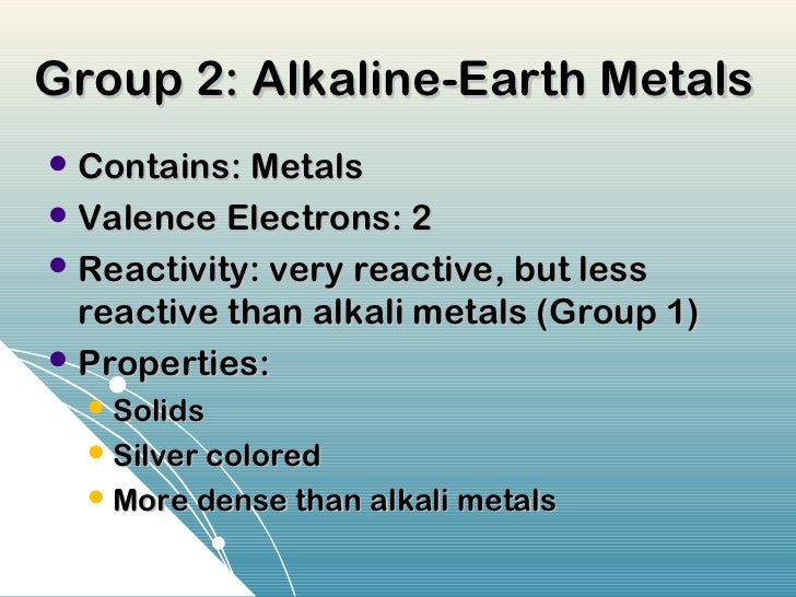Periodic table ppt cscope 19 group 2 alkaline earth metals urtaz