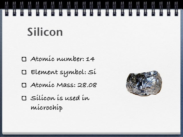periodic table project si on the periodic table - Periodic Table Diamond Symbol