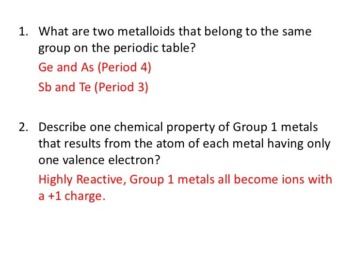 6 1 - Periodic Table Charges Quiz