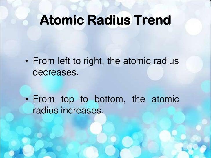 Periodic trends atomic radius trend from left to right urtaz Images