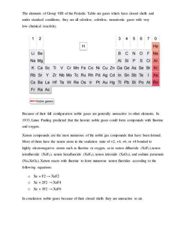 Trends of the periodic table group 18 10 urtaz Images