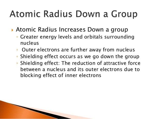 Periodic trends cca electrons 6 atomic radius decreases across urtaz Gallery