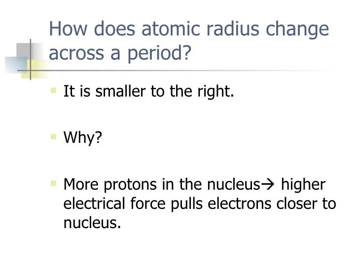 Periodic trends how does atomic radius change across a period urtaz Image collections
