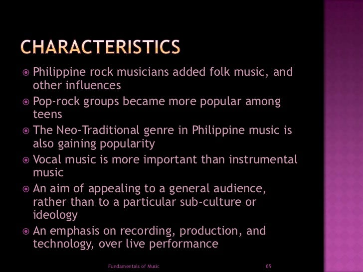 Period in history of philippine music.