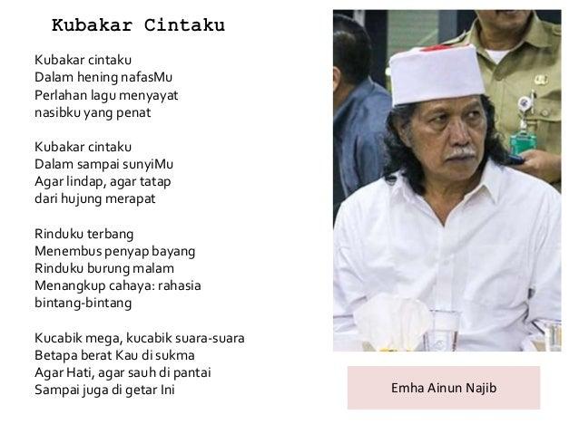 Puisi Kubakar Cintaku Karya Emha Ainun Najib Kt Puisi