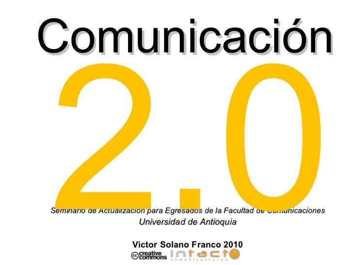 Periodismo 2.0 Víctor Solano