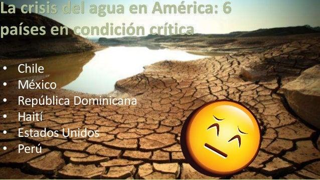 Crisis del agua, 25 países que mas la sufrirán.
