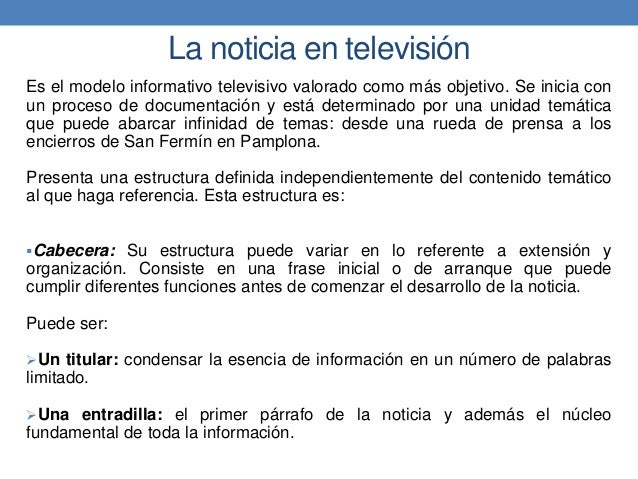 Periodismo Televisivo Unidad Iii