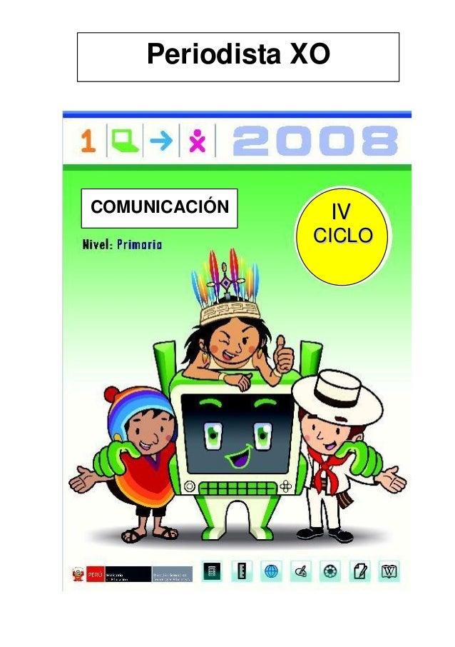 Periodista XO COMUNICACIÓN IIVV CCIICCLLOO