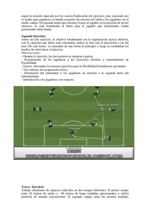 según la rotación marcada por los conos).Explicación del ejercicio; pase ejecutado por el medio para jugadores en banda, p...