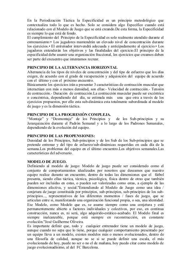 PERIODIZACIÓN TÁCTICA, un modelo de entrenamiento (Oliveira, José Guilherme) Slide 3