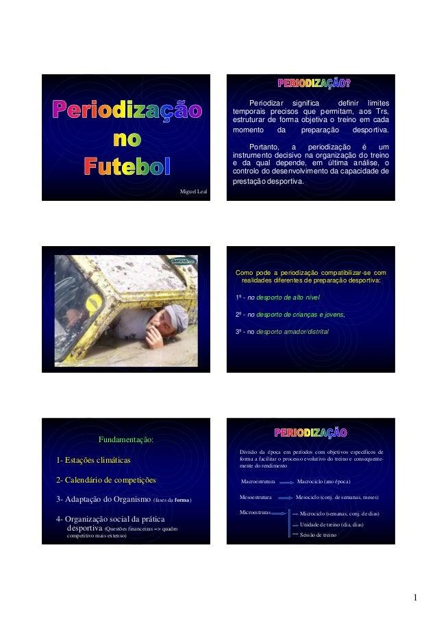 1 Miguel Leal Periodizar significa definir limites temporais precisos que permitam, aos Trs, estruturar de forma objetiva ...