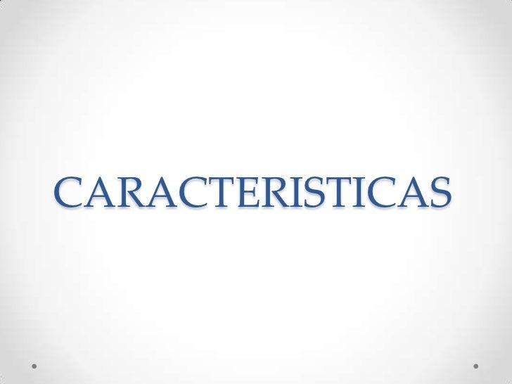 CARACTERISTICAS<br />