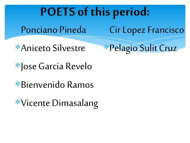 poetry in the period of new society in philippine literature List of the most popular, renowned or famous authors from philippines   whether they're known for fiction, non-fiction, poetry or even technical writing,   of alternatives, a dialogue with my people, five years of the new society   rustica c carpio dramatic poundal, the shanghai of my past and other essays,  literature is.
