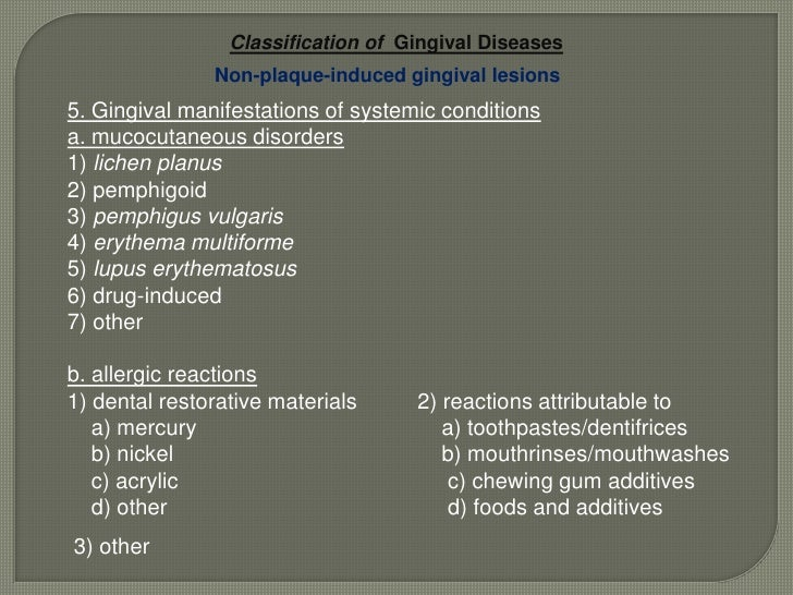 'Periodontal abscess' and 'periodontal-endodontic' lesions were added.