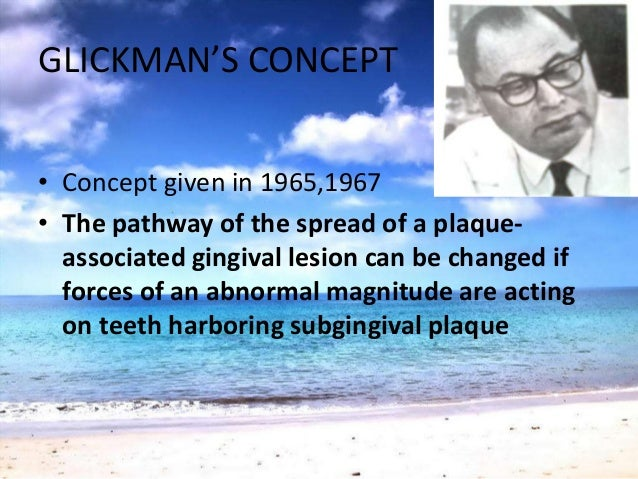 GLICKMAN'S CONCEPTZONE OF CO-DESTRUCTION• PDL, Root cementum & alveolar bone• Coronally demarcated by the transseptal &the...