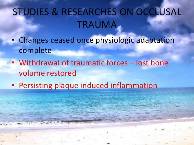 TREATMENT PLANNINGOcclusal treatment indicated• Occlusal discrepancies• Periodontal diseaseX Occlusal treatment not indic...