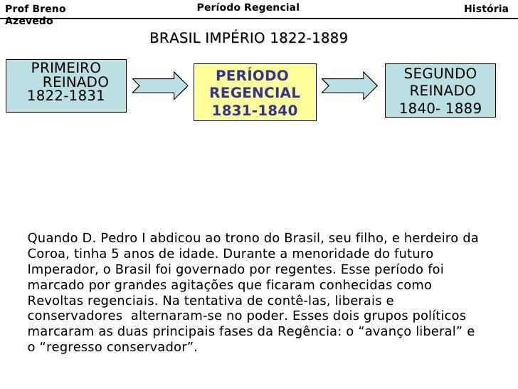 Prof Breno                   Período Regencial                        HistóriaAzevedo                     BRASIL IMPÉRIO 1...