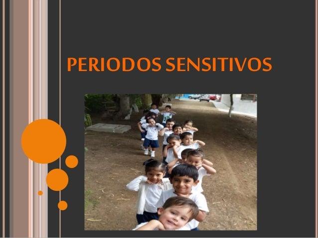 PERIODOS SENSITIVOS