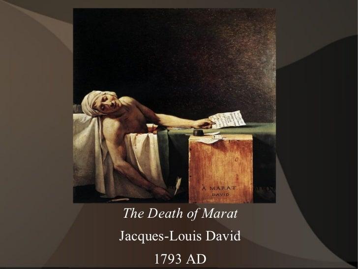 The Death of Marat Jacques-Louis David 1793 AD