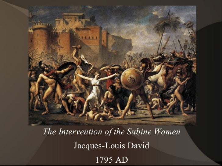 The Intervention of the Sabine Women Jacques-Louis David 1795 AD