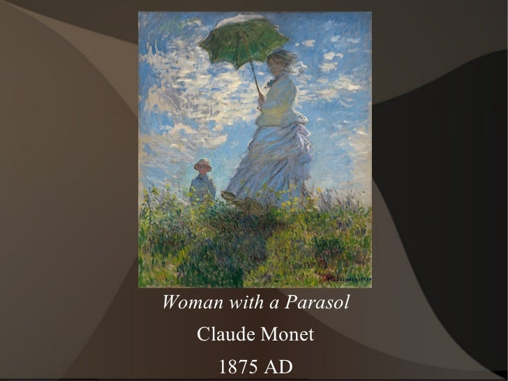 Woman with a Parasol Claude Monet 1875 AD
