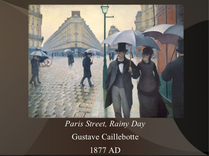 Paris Street, Rainy Day Gustave Caillebotte 1877 AD