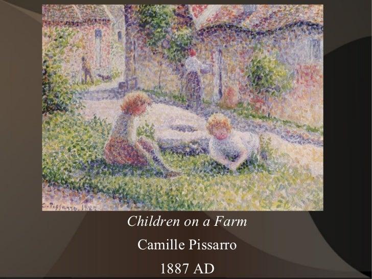 Children on a Farm Camille Pissarro 1887 AD