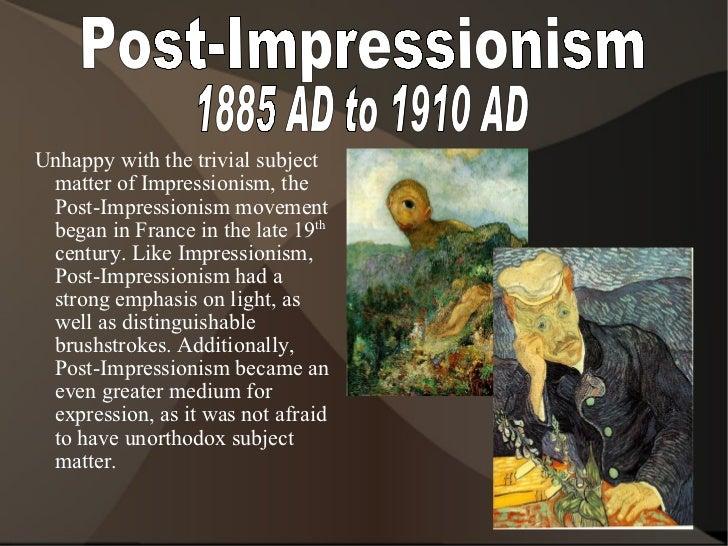 Renaissance to Post impressionism