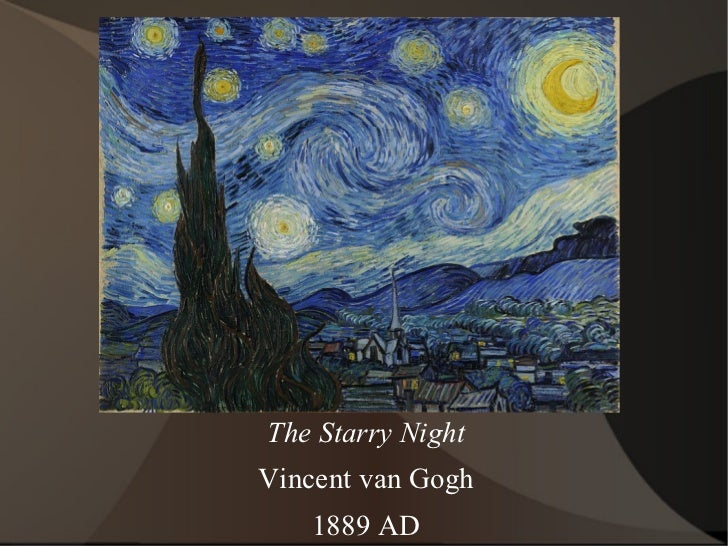 The Starry Night Vincent van Gogh 1889 AD
